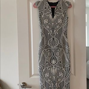 Black and white Ted Baker midi dress